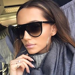shadow shields Coupons - 2017 Brand Designer Women Retro Flat Top Sunglasses Vintage Acetate Shaded Lens Thin Shadow Glasses Men Oculos De Sol 744M
