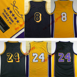 Wholesale Signature White - 2017 New Style Mens Bryant Retired Jersey Yellow Black Men Bryant Signature Basketball Jerseys with player name