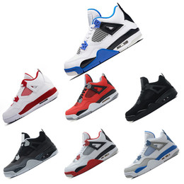 buy popular 513c4 cba53 Nike Air Jordan Retro 4 4s Basketballschuhe 4s weißer Zement-Basketball  beschuht Mann 4s IV weiße Zement-Turnschuhe 2018 preiswerte  Sport-Schuhgröße US 8-13