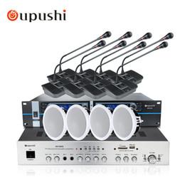 konferenzen mikrofon Rabatt Oupushi 8 Kanal Wireless Schwanenhals Desktop Mikrofon Hohe Empfindlichkeit UHF PPL Kondensator Konferenz Meeting Mikrofon