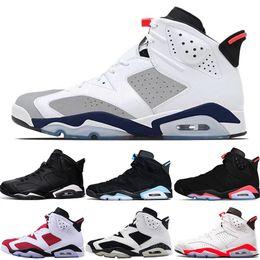 huge selection of d6128 843e3 chaussures de golf bon marché pour hommes Promotion Designer Men 6 6s  Basketball Chaussures UNC chat