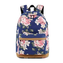 5d16739a7c9d fashion Women USB charging laptop backpack for teenage girls school backpack  college school bags Printing Female travel