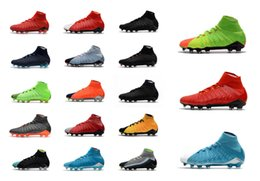 Wholesale Faster Times - Mens high ankle FG soccer Rising Fast Pack Hypervenom Phantom III DF Time to Shine shoes Motion Blur boots cleats Men football shoes