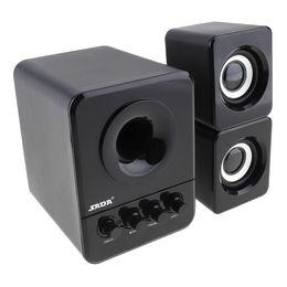 SADA D-203 Com Fio Mini Canhão Baixo Portátil 3 W PC Combinação Falante com Ficha de Áudio de 3.5mm e USB 2.1 PMP_70Q Com Fio de