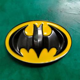1 Unids Hebillas Cinturon 3D Amarillo Batman Hombres Western Cowboy Belt Buckle Fit 4cm Cinturones anchos desde fabricantes