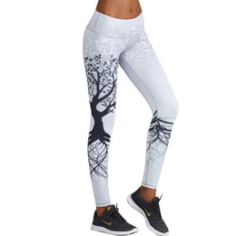 stampa digitale 3d Sconti Moda 3d Stampato Leggings Donne Push Up Leggings a vita alta 3d Digital Tree Print Slim poliestere Harajuku Legging Xs -L