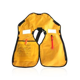 Wholesale Inflatable Kayaks - Swimming Life Vest Men Women Inflatable Life Jackets Safe Rescue Vest Surf Fishing 150N Buoyancy kayak Self-Help Accessories