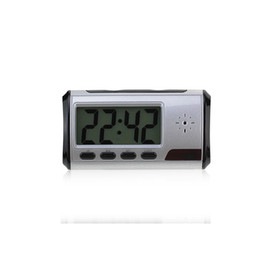 Wholesale dvr digital camcorders - Free Shipping Digital Alarm Clock Camera Video Recorder DVR Camcorder with Remote Motion Detection Camera 640*480