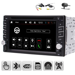 Wholesale Mobile Phone Hands Free - 6.2'' Double 2 Din Car Stereo Automotive car DVD Player in Dash Radio Hands-free Bluetooth USB SD MP3 Player Autoradio Aux+Wireless camera