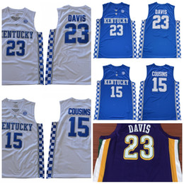 Wholesale Demarcus Cousins Jersey - NCAA Kentucky Wildcats 2018 NEW 23 Anthony Davis 0 DeMarcus Cousins City Edition Stitched College Basketball Jersey