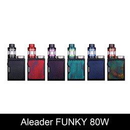 2019 caixas de funky Original Aleader Funky 80 W Kits Resina Starter Kit Vape E Cigarro Regulagem Potência Funky TC box Mods Tanque Funky 60 W Upgrade caixas de funky barato