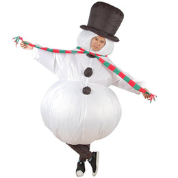 Anime halloween vestire in su online-Costumi di carnevale di Natale Gonfiabile pupazzo di neve Costume Adulto Uomini Donne gonfiabile Blow up Anime Cosplay Fancy Dress Mascot Suit
