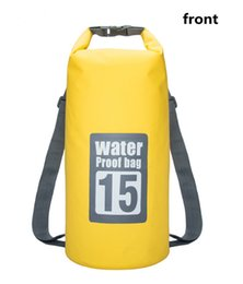 Wholesale Dry Bag 15l - 5L 10L 15L 20L Swimming Waterproof Bags Storage Dry Sack Bag For Canoe Kayak Rafting Outdoor Sport Bags Travel Kit Equipment