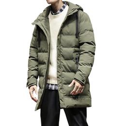 green hooded parka Australia - 2018 New Fashion Winter Jacket Men Army Green Hooded Windbreaker Long Parka Coat Man Thick Cotton Casual Winter Warm Jacket