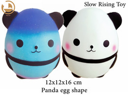 Wholesale egg squishy - New Jumbo Slowly Scented Squishy Squeeze Panda Egg Toy Decompression Call(Current, decompression)