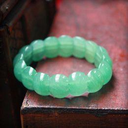 2019 männliche modelle armbänder Natürliche grüne Armband männliche und weibliche Modelle Tanglin Hand Row Stein Armband Schmuck Geschenke