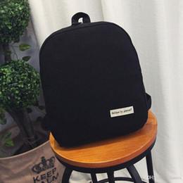 20dee46319e Wholesale- New Women Fashion Simple Satchel Backpacks Girl Canvas School Bag  Travel Cute Backpack Satchel Women Shoulder Rucksack