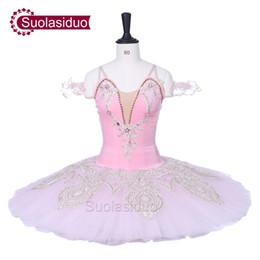 Wholesale women sleeping beauty costume - Professional Pink Adult Ballet Tutu Sleeping Beauty Performance Stage Wear Women Ballet Dance Competition Costumes Girls Ballet Skirt