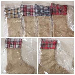 2019 рождественская сетка Рождественские украшения чулки сетки носки подарки мешок конфет белье хлопок печатных полосатый рождественские украшения подарок мешок OOA5918 дешево рождественская сетка