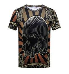 Nouveau mode créatif lignes gravées imprimées 3d femmes hommes t-shirt or chaîne t-shirt double harajuku t-shirt streetwear été top ? partir de fabricateur