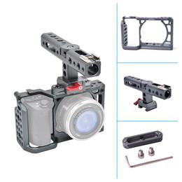 2019 système de stabilisation de caméra Système de montage de film de stabilisation de poignée de caméra vidéo avec système de fabrication de film de stabilisateur de poignée supérieure pour Sony A6500 A6300 système de stabilisation de caméra pas cher