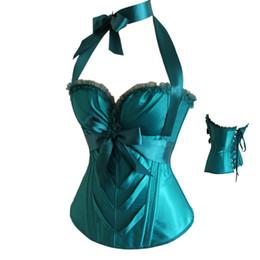 Wholesale Lace Dress Xxl - Free Shipping Plus Size Sexy Lace Up Boned Corset Halloween Dress Bustier Top Waist Shaper 4 Colors Size S-XXL