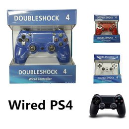 Wholesale Ps4 New Console - New USB Wired Game Controller For Sony PS4 Controller Shock 4 Joystick Gamepads For PlayStation 4 Console with retail box.