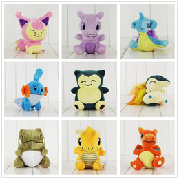 Wholesale Lapras Plush - Cyndaquil Lapras Charizard Dragonite Mudkip Skitty Snorlax Mew Pikachu Plush Doll Stuffed Toy For Child Best Gifts Size 12-18cm