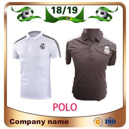 2019 Polo de fútbol Real Madrid Polo White 18/19 Polo de Real Madrid gris Camiseta de fútbol POLOS RAMOS MODRIC ASENSIO ISCO desde fabricantes