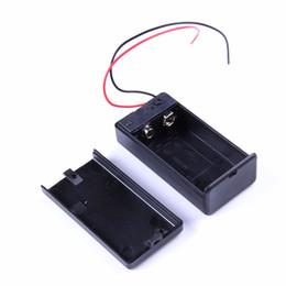 Caja de la caja del soporte de la batería 9V con caja de la cubierta del interruptor ON / OFF del cable de plomo 20 desde fabricantes
