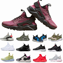 Wholesale men multicolor shoes - 2018 New Huarache IV Ultra Running shoes Huraches trainers for men & women Multicolor shoes Triple Huaraches sneakers free shipping