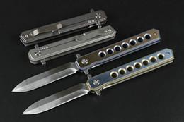 Cuchillo bm43 online-Mango de titanio ojo grande rápido cuchillo plegable BM41 BM42 BM43 A16 A161 A162 A163 A163 cuchillo de caza camping de supervivencia plegable artesanía recoger cuchillo