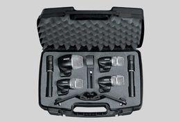 Batterie microfoni online-Nuovo packaging di alta qualità PGDMK6 Set microfono per strumento a batteria PG52 PG56 PG81 Set microfono per strumento a batteria LLFA