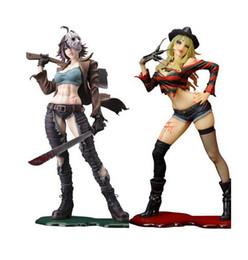 Wholesale top toy figures - Wholesale 23cm Sexy Freddy Vs Jason Female Version horror bishoujo PVC Action figure Toys Top Quality