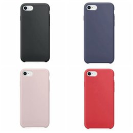 microfiber iphone Coupons - Silicone Phone Cases for iPhone 8 7 6 4.7 Inch Shockproof Soft Covers for iPhone with Microfiber Cloth Lining 4 Colors