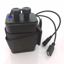 Plástico à prova d 'água 6x18650 Bateria Caso Titular Capa DC / USB Saída Para Bicicleta Bicicleta luz da lâmpada E Do Telefone Móvel de Fornecedores de mini barco solar