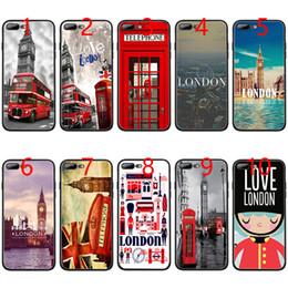 2019 iphone londres Coque en TPU Black Phone TPU London big ben pour iPhone XS Max XR 6 6s 7 8 Plus 5 5s SE iphone londres pas cher