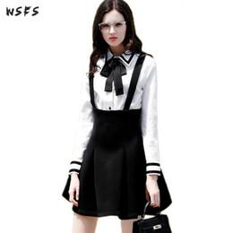 Sexy Blanca Negra Falda Camisa Online OPZiuTlwkX