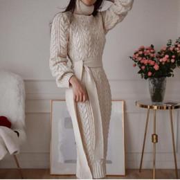 lässige kleider vereinigte staaten Rabatt Herbst Winter Europa und USA Vintage Damen Wollkleid Verdickung Strickkleid Casual Strickpullover Kleider 2019