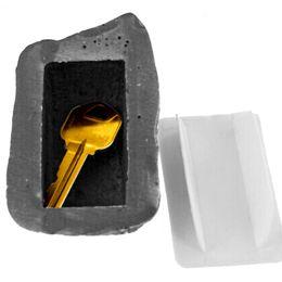 Casi di roccia online-Outdoor Spare Key Safe House nascosto pellame Storage Security Roccia caso di pietra Box