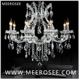 Maria theresa luz araña de cristal online-Venta caliente Maria Theresa Clear White Crystal Chandelier Lámpara Lustre Cristal Pendelleuchte Luminaria de calidad superior 8 Luces