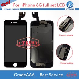 Wholesale Iphone Home Buttons - Wholesales Touch Screen Digitizer For iphone 6G LCD Full Assembly with Home Button and Camera With Free DHL Shipping