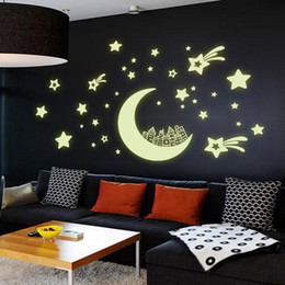 Wholesale Chart Stars - 1Set DIY 4 Types Fluorescent Luminous Corridor Ceiling Wall Sticker Home Decor Glow In The Dark Star Decal Baby Kid Room