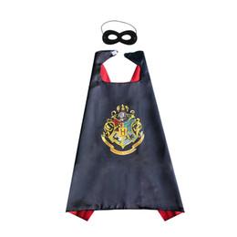 roter schwarzer spiderman zentai Rabatt Harry Potter-Superheld Cape + Maske Ein Pieco-Superheld Umhang-Cape-Kindsatin-Doppelschichtparty bevorzugt Halloween-Weihnachtsgeburtstagsgeschenke