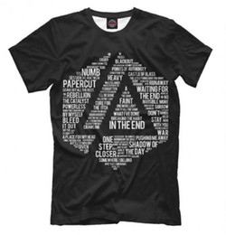 Wholesale Linkin Park T Shirts - Linkin Park 3D Printed Women men's Casual Short Sleeves T-shirt L01