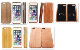 iphone 5s covers wood Australia - Two Parts Solid Handmade Natural Wood Wooden Hard Back Case Cover for iPhone X 8 7 6S 6 Plus 5S SE 5