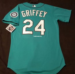 60c96c84c Cheap Top SEATTLE #24 Ken Griffey Jr COOL BASE Jersey Mens Stitched  Wholesale Big And Tall SIZE XS-6XL shirt jerseys