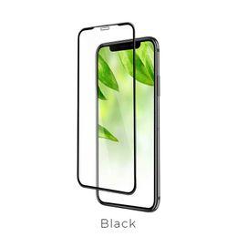 Vetro temperato 9H per il nuovo iPhone Xs Max XR Pellicola proteggi schermo 5D Superficie a copertura totale Vetro per iPhone X 8Plus Pellicola frontale Cover 0.3mm (Nero) da