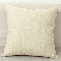 cuscino vuoto Sconti 40x40cm naturale poli biancheria cuscino caso spazi vuoti per sublimazione fai da te pianura copertura del cuscino tela da ricamo spazi vuoti