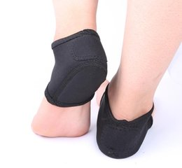 padded heel socks Promo Codes - mrwonder New 2pcs Foot Heel Ankle Wrap Pads Black Color Plantar Fasciitis Therapy Pain Relief Arch Support Socks